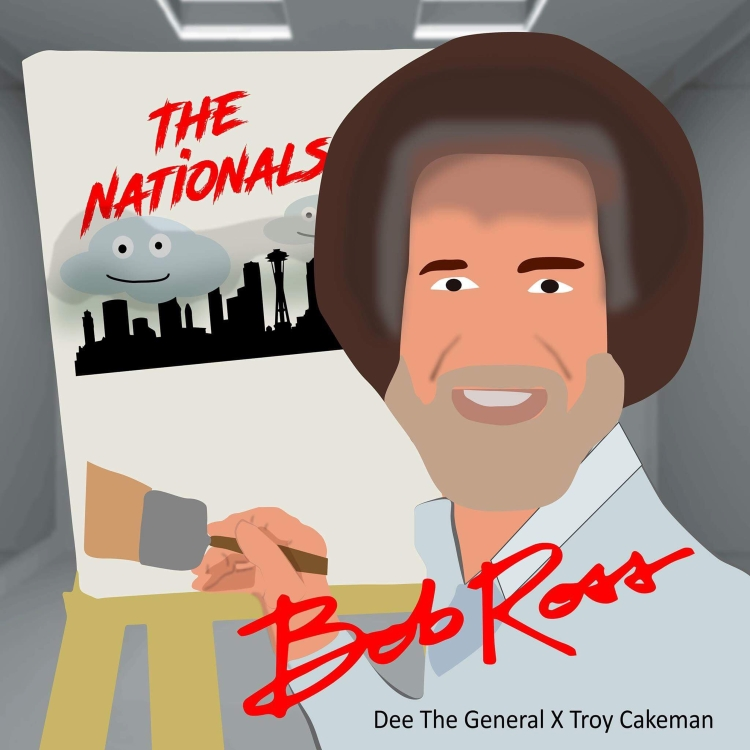 Troy Cakeman (feat. Dee The General) - Bob Ross Cover Art